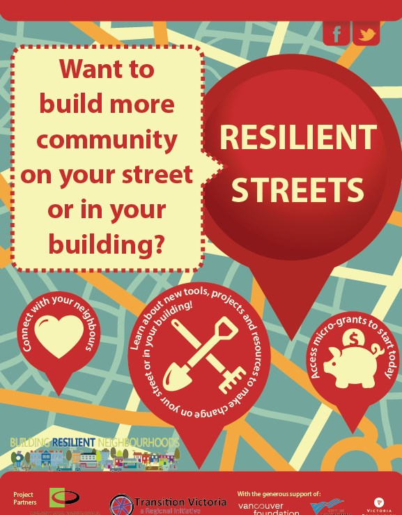 REGISTER NOW for upcoming Resilient Streets kick-off workshops