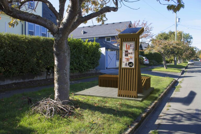 "Street in Victoria Gets a ""Neighbour Hub"" Emergency Supply Bench"