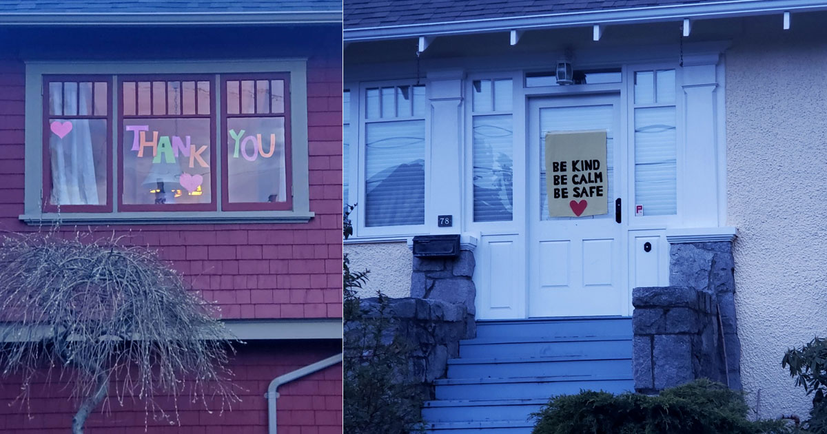 Communities and neighbourhoods across the country are informally contributing to neighbourhood Window Walks.