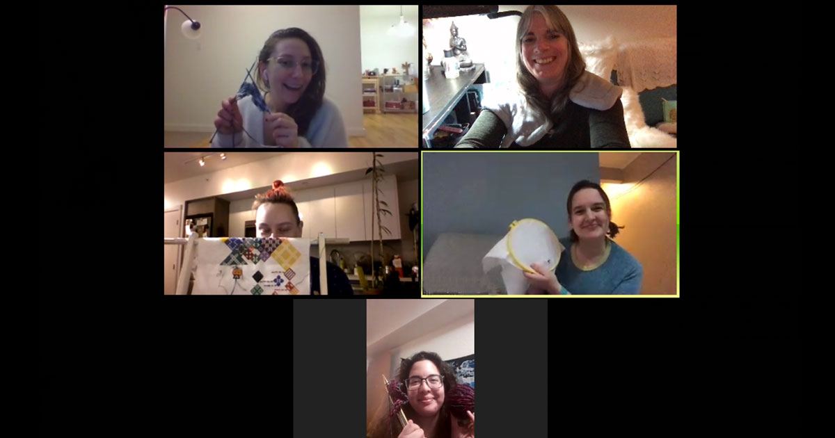 Video conference meetup.