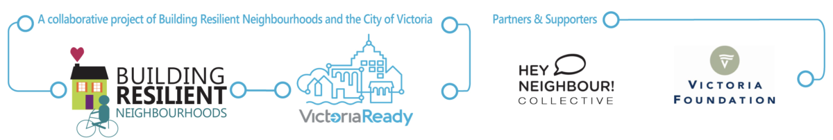 Building Resilient Neighbourhoods, Victoria Ready, Hey Neighbour Collective and Victoria Foundation.